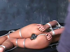 Totally nude, great foot fetish stuff. A girl thats hot and loves to be tied..