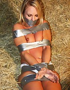 Natalie all taped up