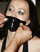 Emma pole-tied tapegagged tit-grabbed