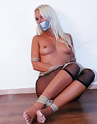 Natalie tied and tapegagged