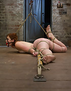 Eager slut elaborately bound