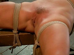 Welcome hot blonde babe Cameron Dee. Eager to please, we start with tying this..