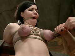 Hot off the press and bondage newbie Belle Noir gets it. First, she is bound..