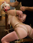 Blond College Student Tied Tight