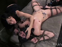 Veruca James is slowly and skillfully teased to the edge of orgasm over and..