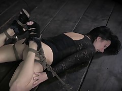 The slut is repeatedly bound and deliberately worked into a state of constant..