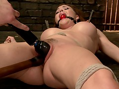 Krissy Lynn and her gorgeous, huge tits are taken for the ride of her life by..