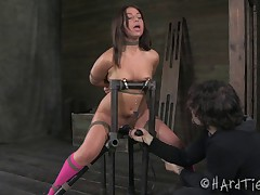 Mia Gold showed up on my door step with a love of bondage and banging body...
