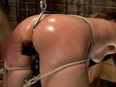 Beautiful and tough as nails Andre Shakti is brutalized in terrible bondage..