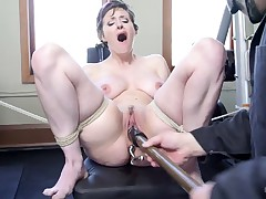 Big Natural Tits in tight workout clothes catch Sarge's eye and he takes what..