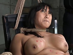Mia Li is an exotic Asian beauty. She has marvelous, big, sensitive tits,..