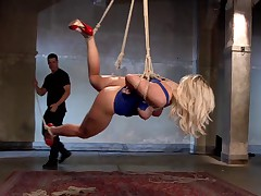 Angels fly today on HogTied, and orgasms must be earned. Angel Allwood shows..