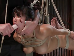 We begin with a hot Asian slut bound and helpless. The torment happens..