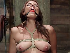 Beautiful Kayla West visits HogTied for a fix of inescapable bondage and..