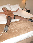 Lucy Zara tied fully spread