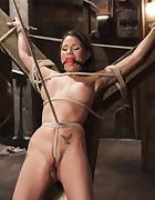 Big tit Brunette caught in brutal bondage