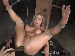 Angel Allwood is a sexy, blonde, oiled, damsel-in-distress. She has tits that..