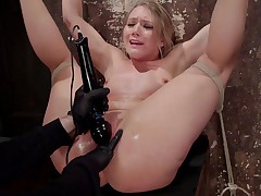 AJ Applegate is far from being a pain slut, but she likes to get tied up and..