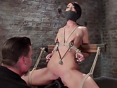 Sabrina Banks is a hot young little slut eager to learn more about bondage...