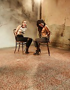 Adel and Denisa chair-tied, pic #5