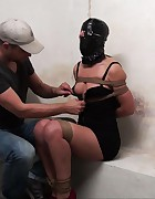 Tied up hooded with plastic bag, pic #3