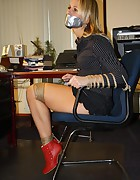 Secretary tied to chair, pic #8