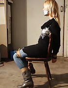 Dutch girl chair-tied, pic #12