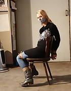 Dutch girl chair-tied, pic #5