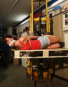 Kirsten hogtied cleavegagged forklifted terrified, pic #12