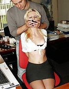 Secretary overpowered bound mouth-stuffed tapegagged, pic #7