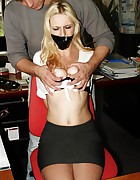 Secretary overpowered bound mouth-stuffed tapegagged, pic #8
