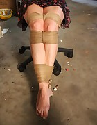 Veronika chair-tied ballgagged tit-grabbed, pic #2