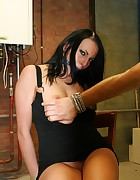 Leonelle chair-tied ballgagged tit-grabbed, pic #7