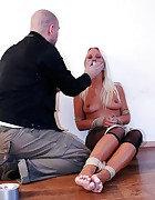 Natalie tied and tapegagged, pic #3