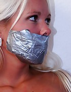 Natalie tied and tapegagged, pic #7