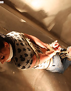 Spanish girl hogtied, pic #11
