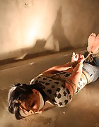 Spanish girl hogtied, pic #8