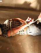 Spanish girl hogtied, pic #9