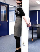 Office chick cuffed, pic #1