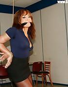Kayla on a string bound, pic #1