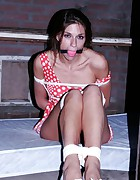 Ann hogtied and ballgagged in the gardenhouse, pic #10