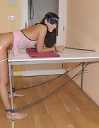 Vanessa is tied bent over, pic #8