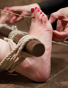 An ankle to hair only suspension, pic #5