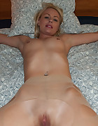 Blond Angel tied fully spread, pic #7