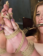 Slut Teased and Orgasmed in Tight Rope, pic #10