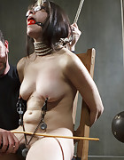 1st timer gets a lesson in bondage, pic #3