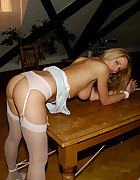 Blonde tied and bend over, pic #10